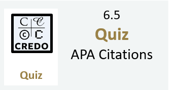 6.5 Quiz: APA Citations