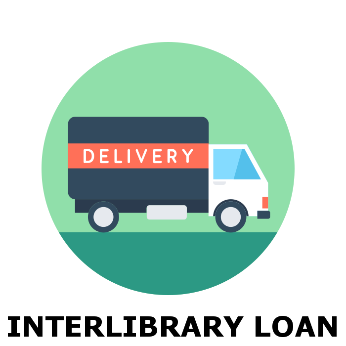 Interlibrary Loan icon with delivery truck