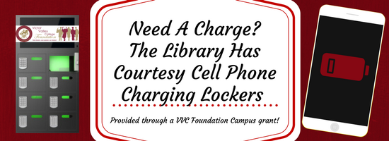 Cell Charging Available At Library