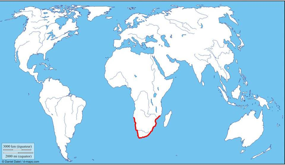 Map of African Penguin distibution