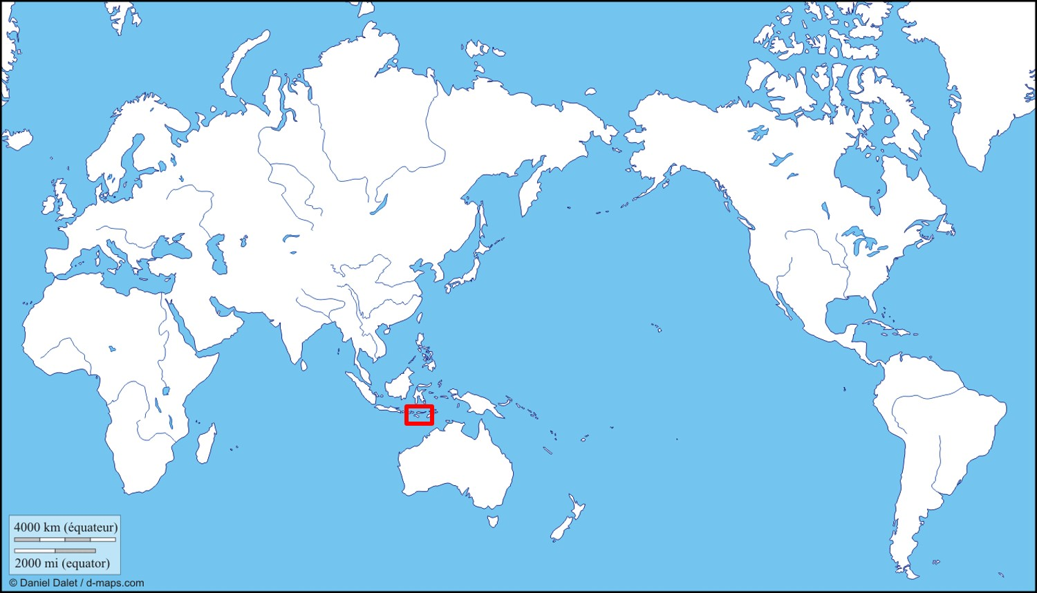 komodo dragon distribution map