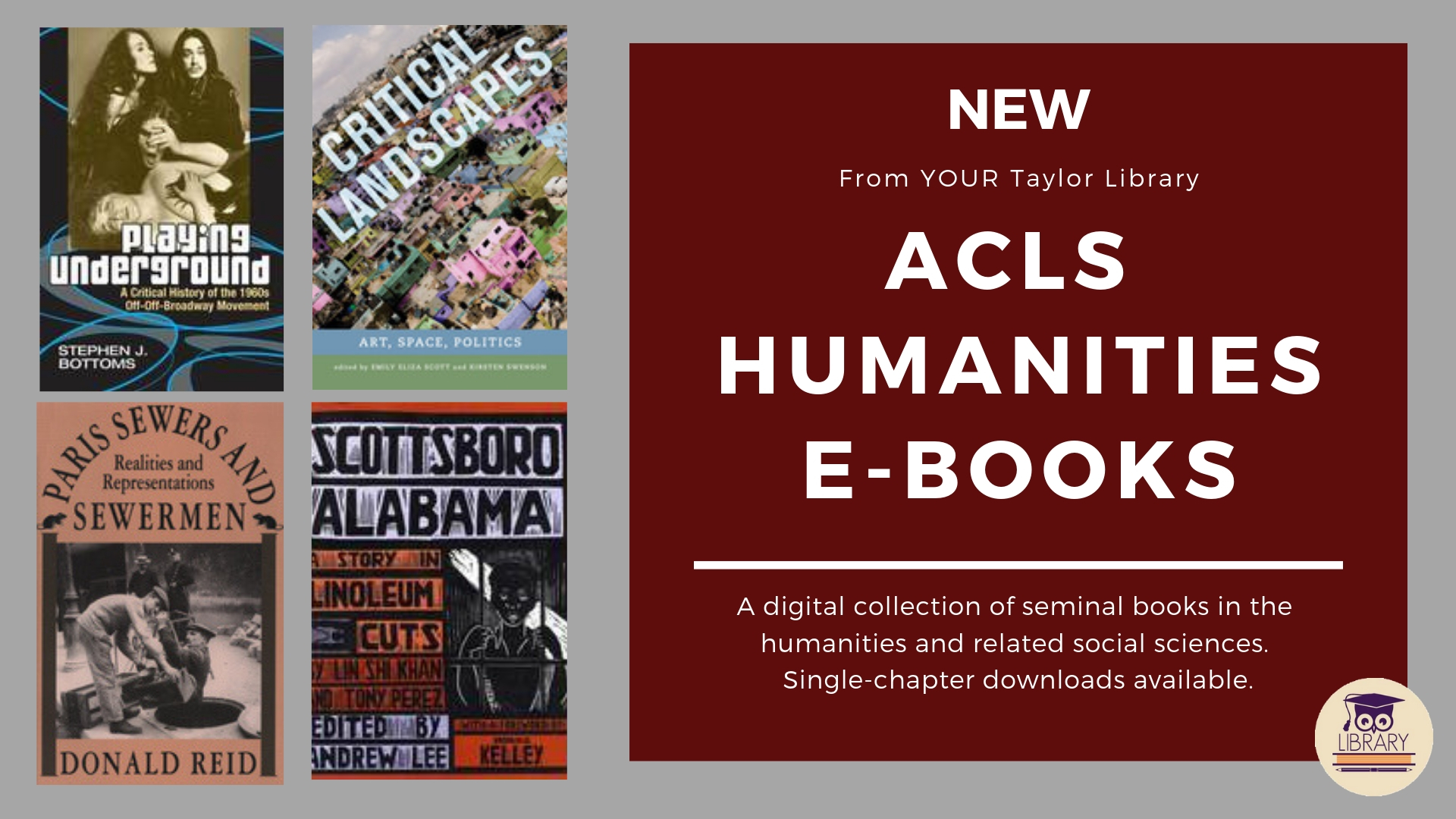 New Humanities e-book database provides seminal texts