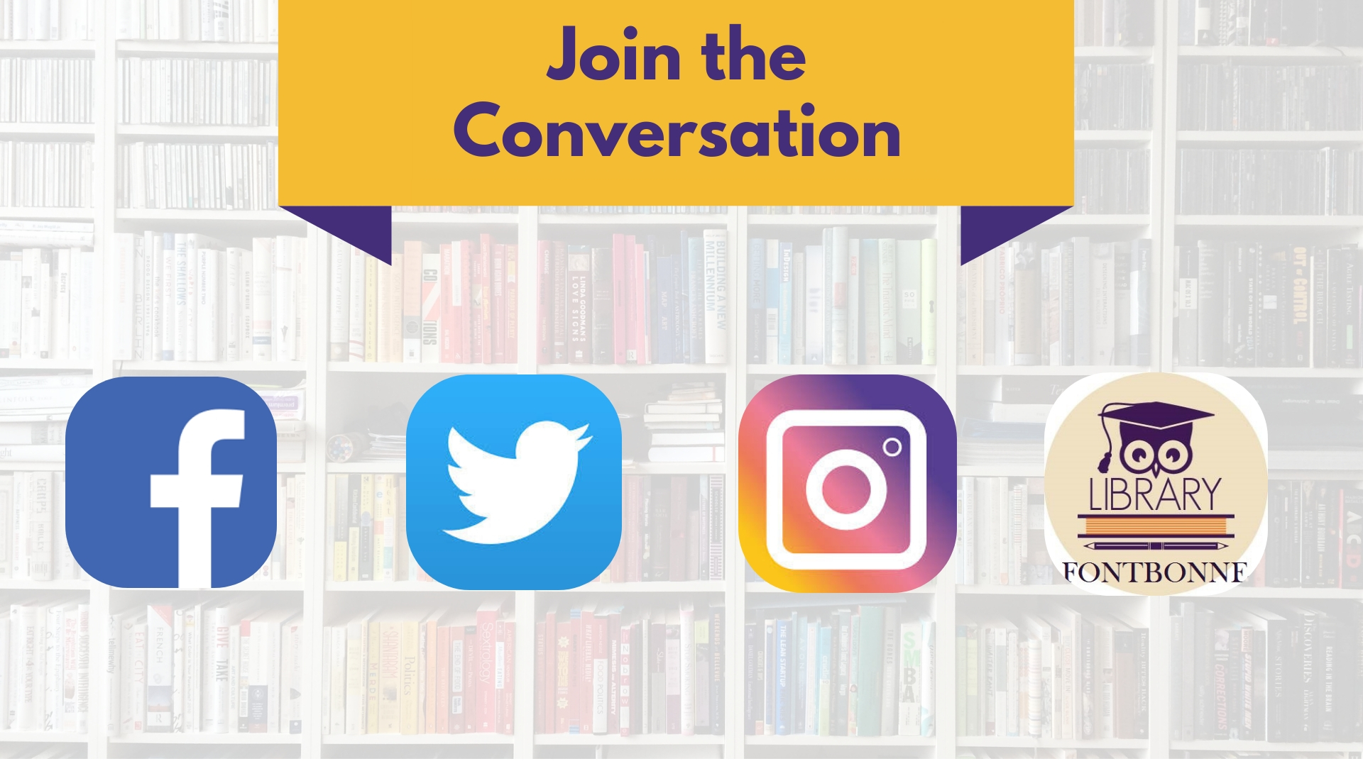 follow Taylor Library on Social Media