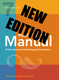7th edition of the APA Publication Manual, copyright 2020.
