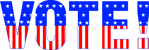 image of word: vote!