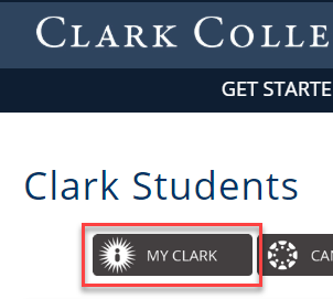 Click My Clark on the Clark Students page