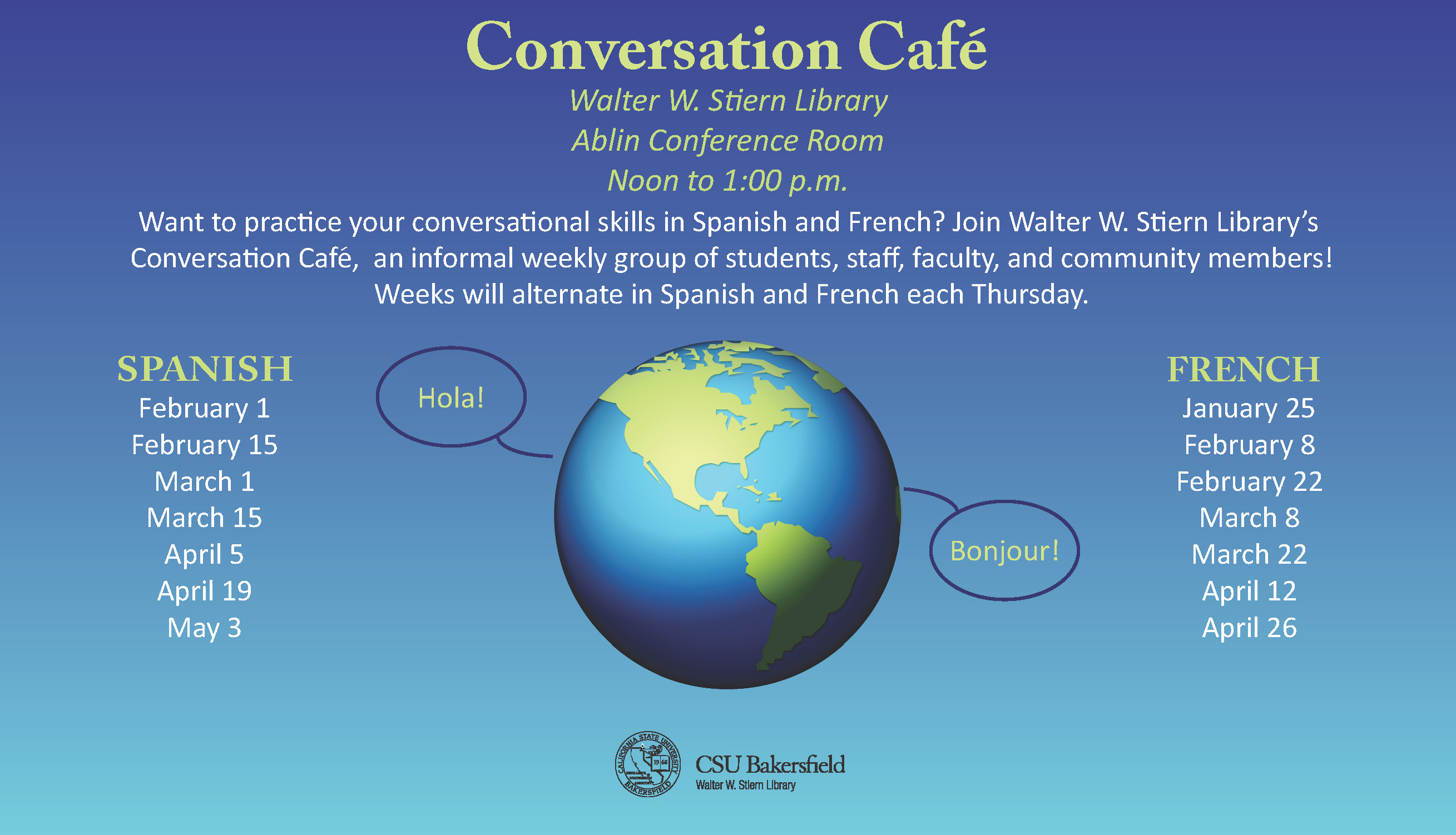 Library events- conversation cafe