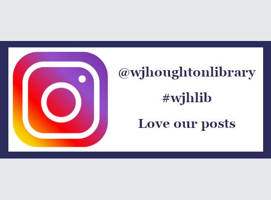 与HC图书馆处理Instagram的标志