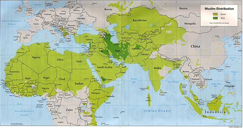 Map of Muslim distribution