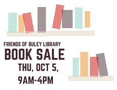 Library Book Sale Thursday October 5 2017, 9 a.m. to 4 p.m.