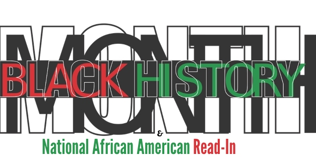 Black History Month and National African American Read-In Graphic
