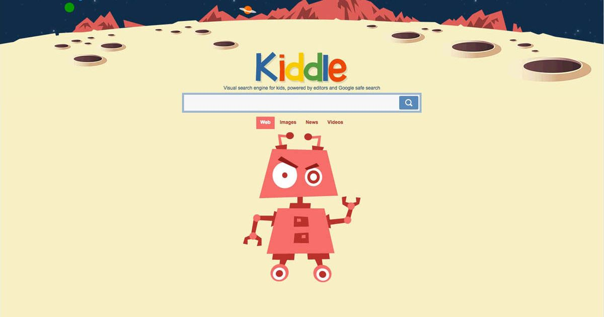 Search box for Kiddle