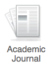 Academic Journal icon in OneSearch