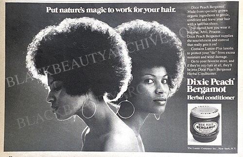 Hair ad from Ebony