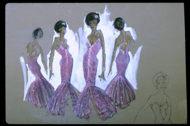 Artist's costume sketch for 'Dreamgirls'