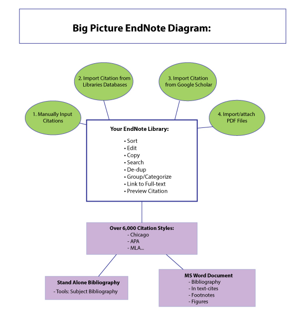 Big Picture: EndNote Library functions.