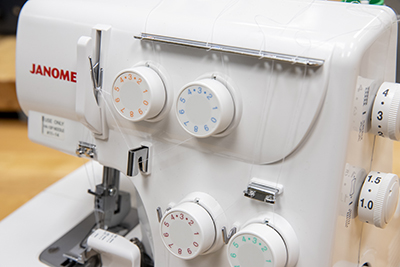 Janome 8002D Serger Front with Controls