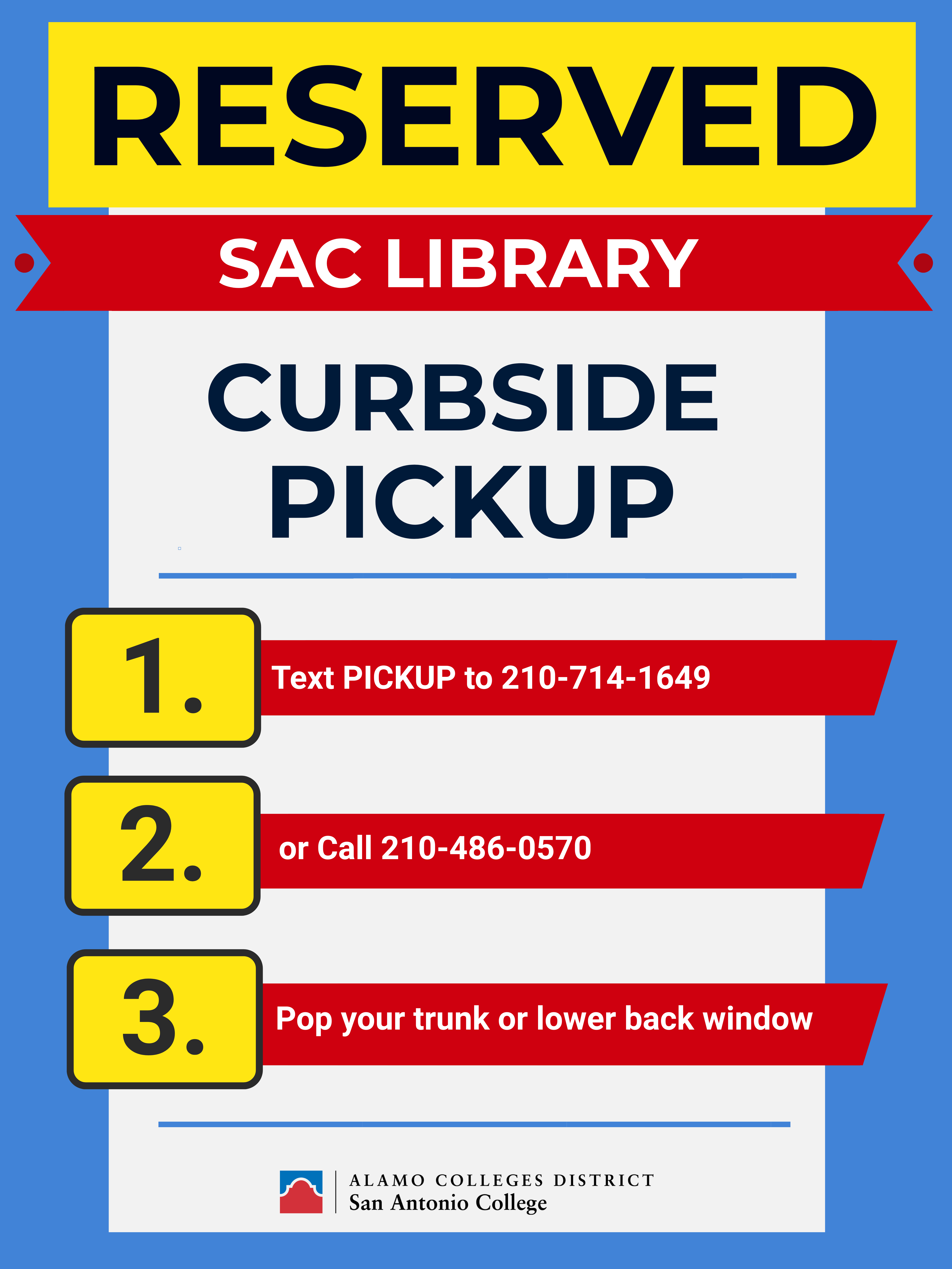 Curbside pickup poster