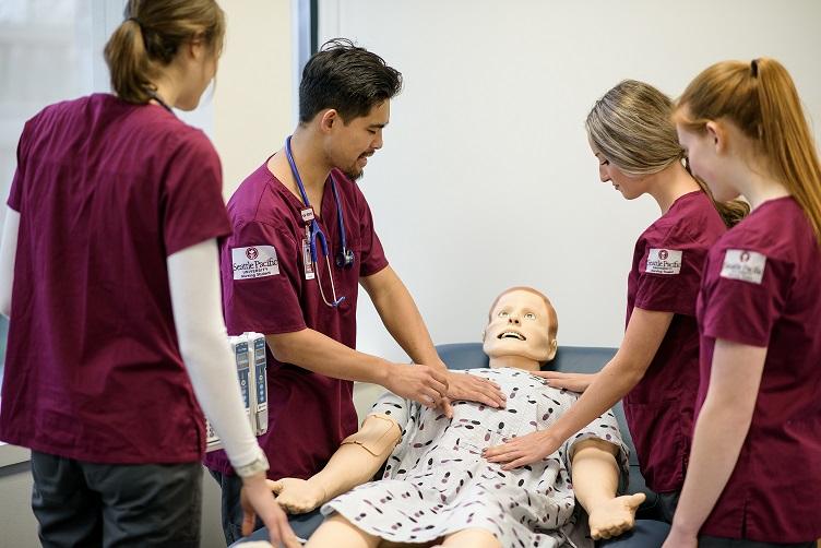 SPU undergraduate nursing students