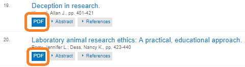 sample chapters of the APA Handbook of Ethics in Psychology, with PDF link circled