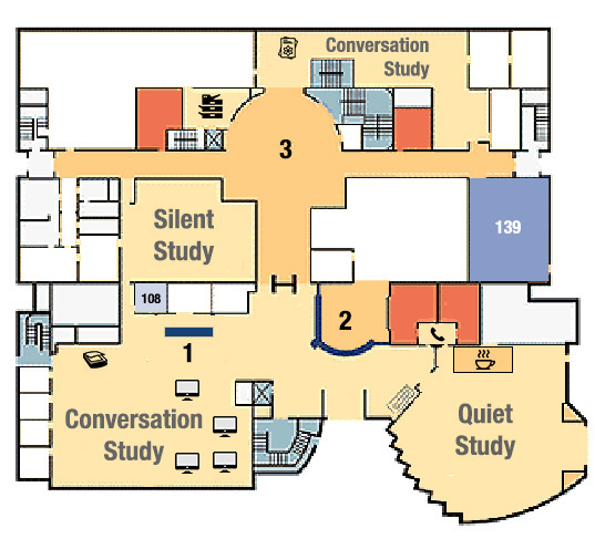 1st floor map