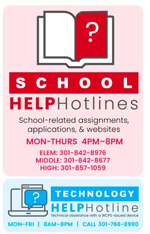 School Help Hotline 301-766-8990