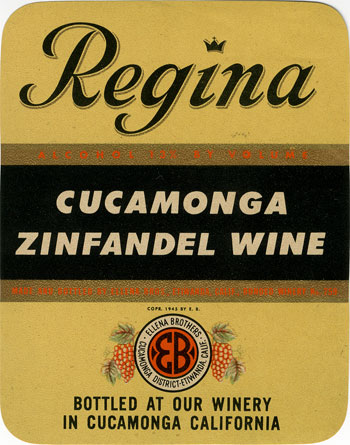 Regina Wine Label