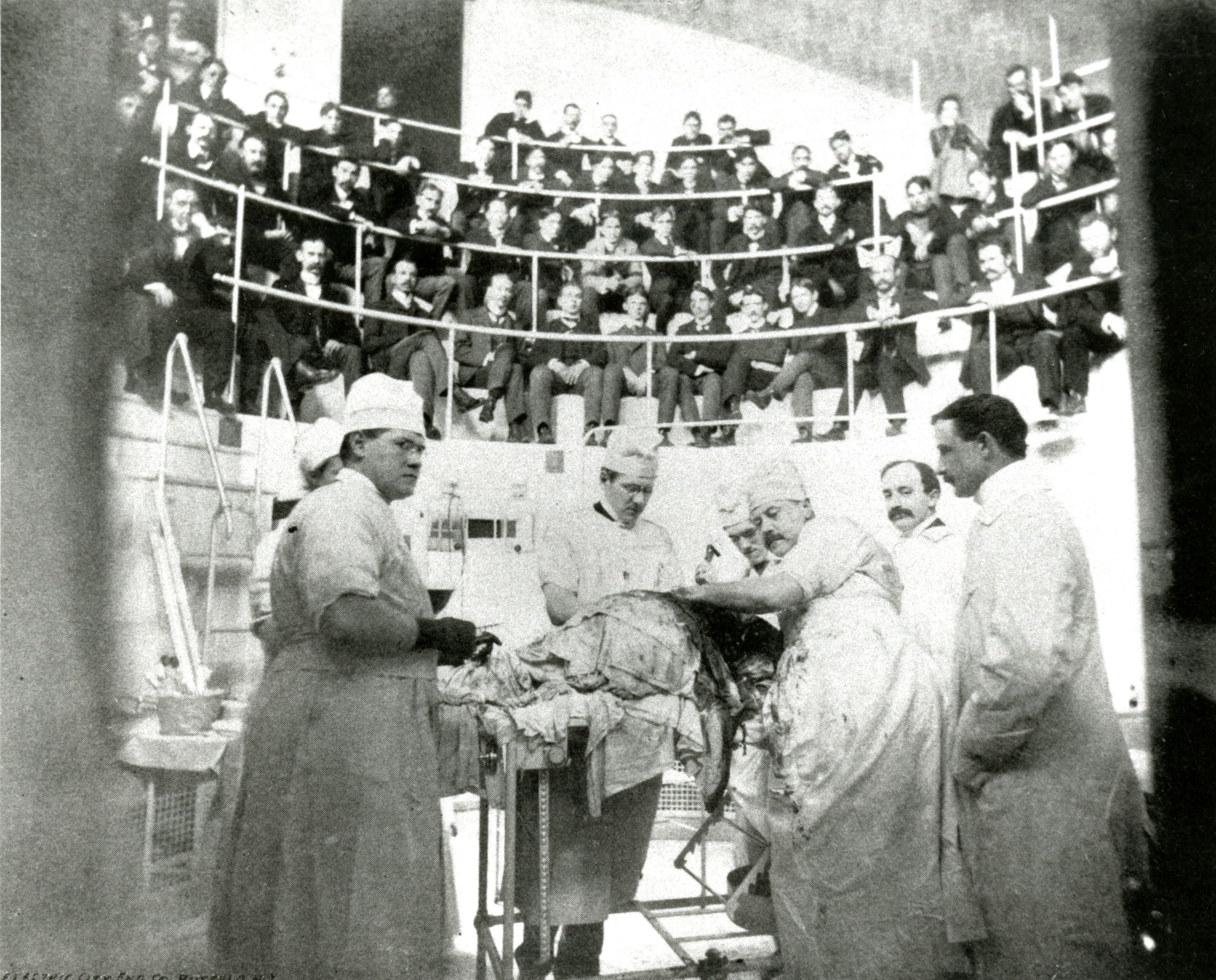 Roswell Park in the operating theater photo