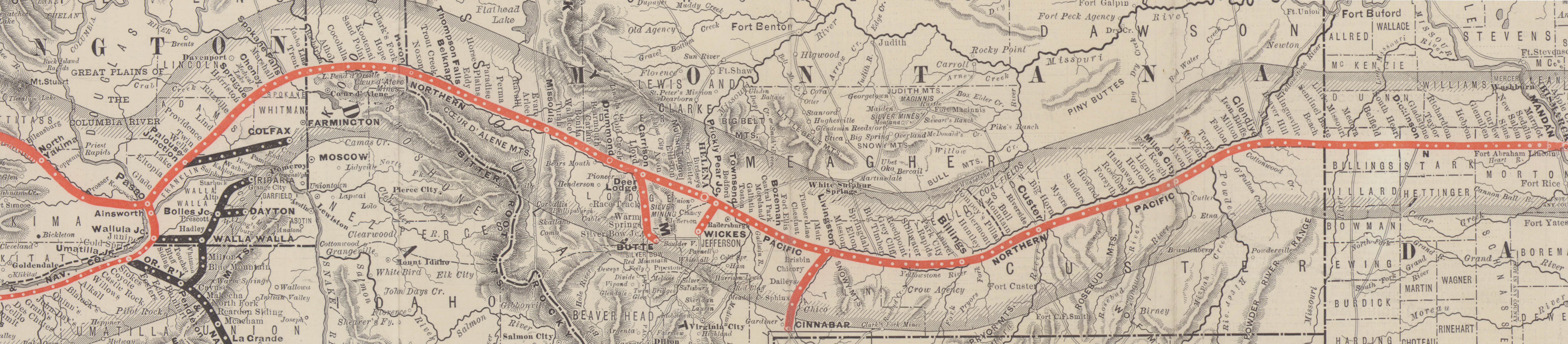 Image of Northern Pacific Railway map