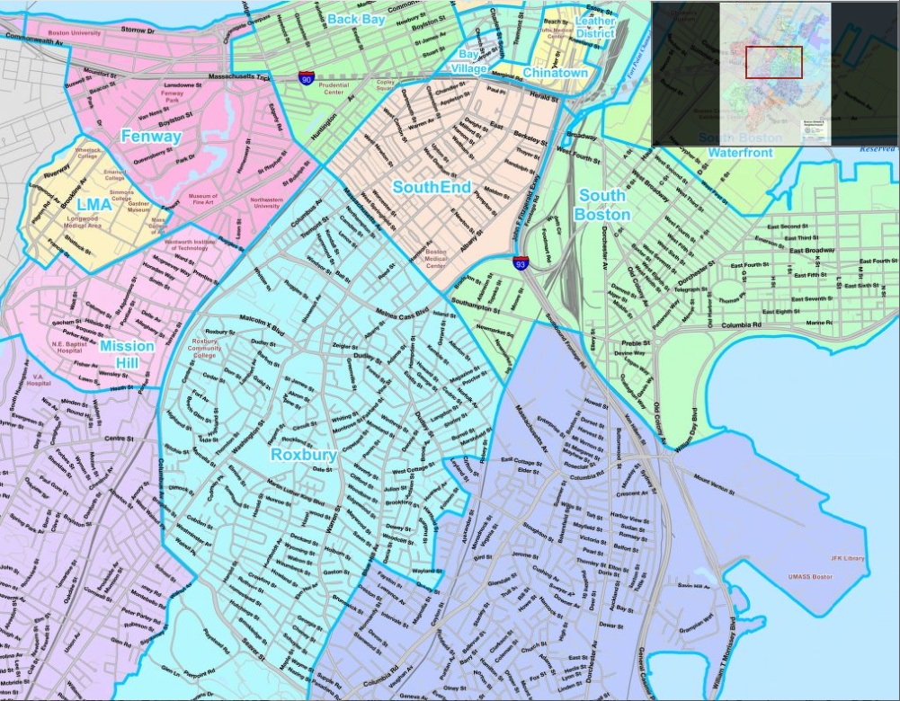 Thumbnail map of Boston