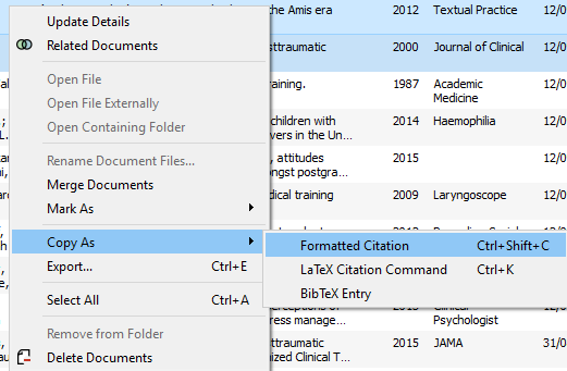 copy formatted references screenshot