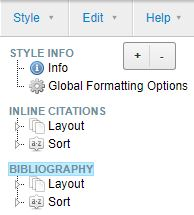 bibliography menu screenshot