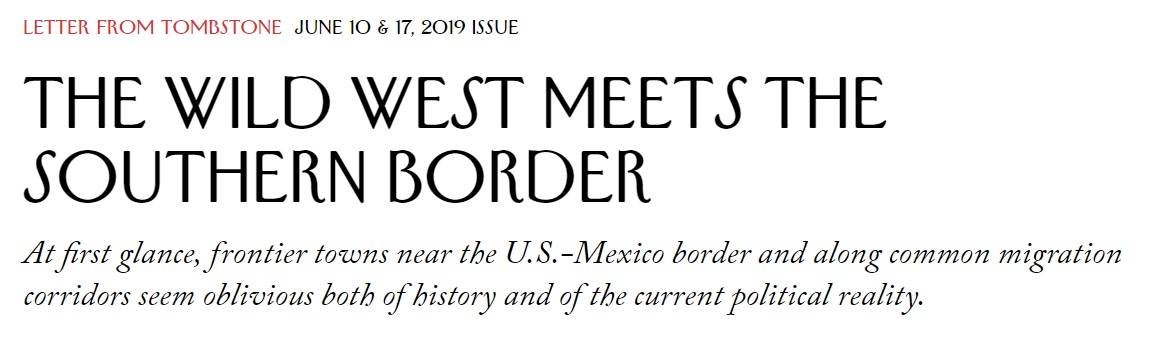 The Wild West Meets the Southern Border by Valeria Luiselli