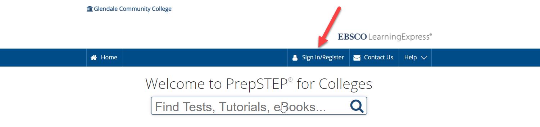 PrepSTEP sign in screenshot