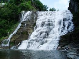 Ithaca Falls in summer