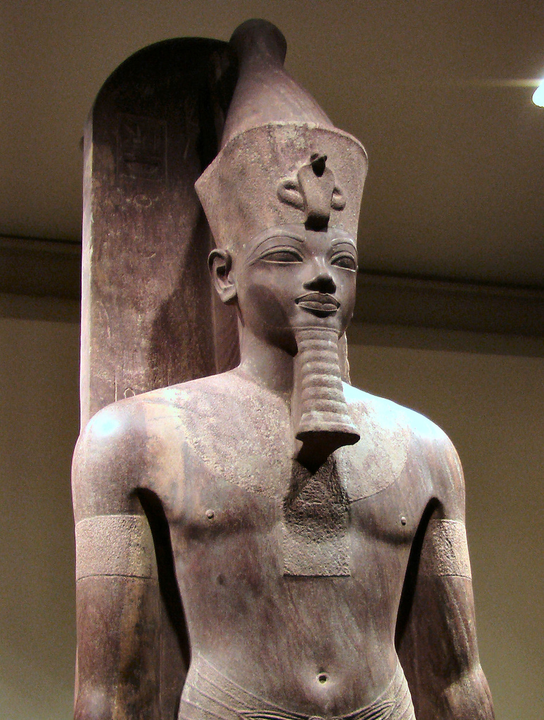 stone carving of Amenhotep III (Akhenaten's father)