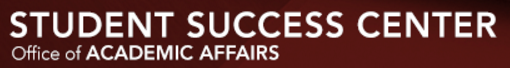 Student Success Center Banner (Office of Academic Affairs)