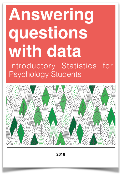 book cover for Answering questions with data: Intr