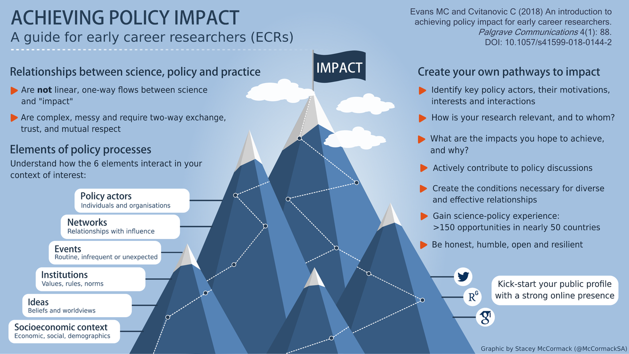 Achieving Policy Impact infographic