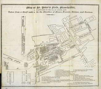 map of St. Peter's Field