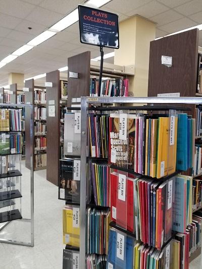 play bins at the SHSU library