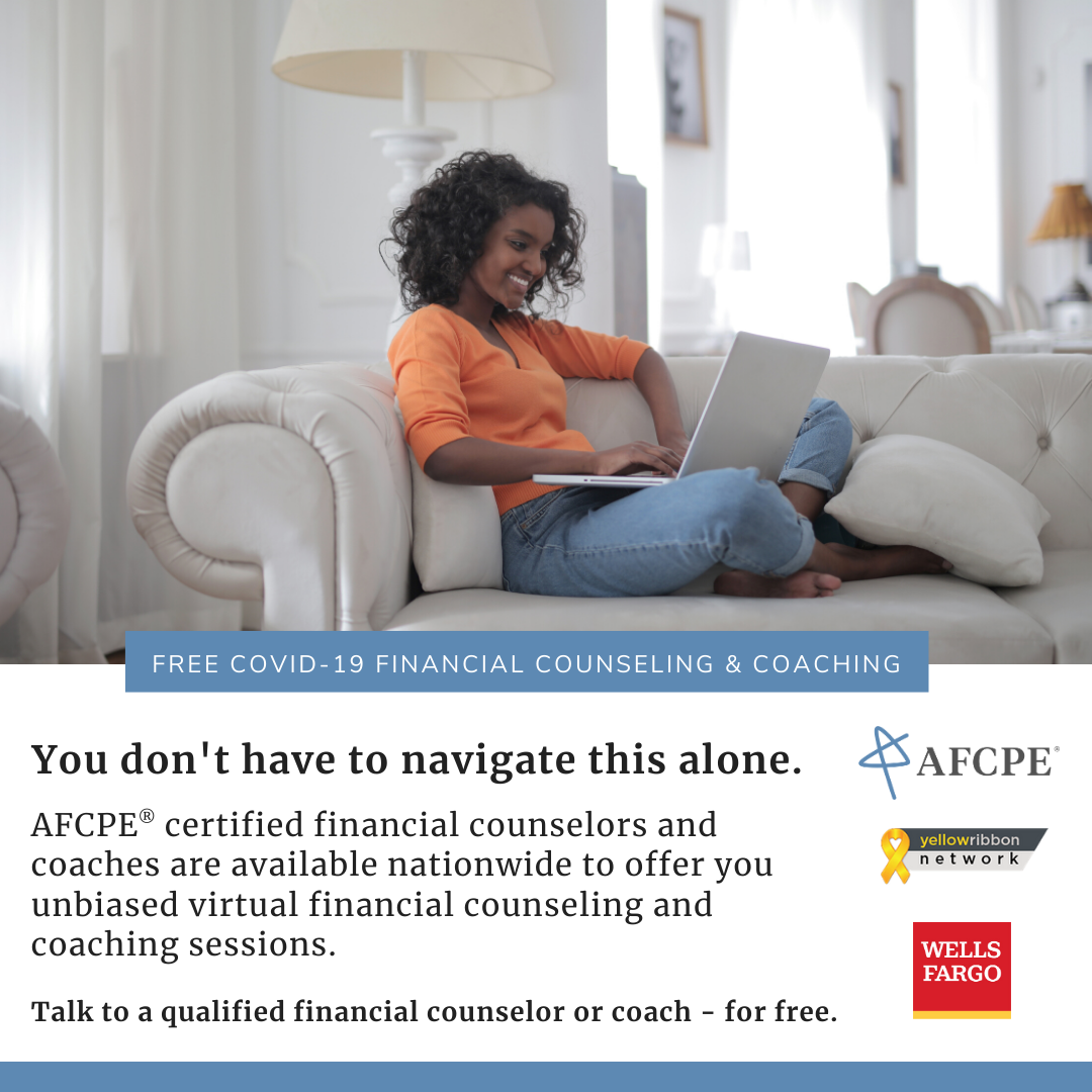 Talk to a qualified financial counselor or coach