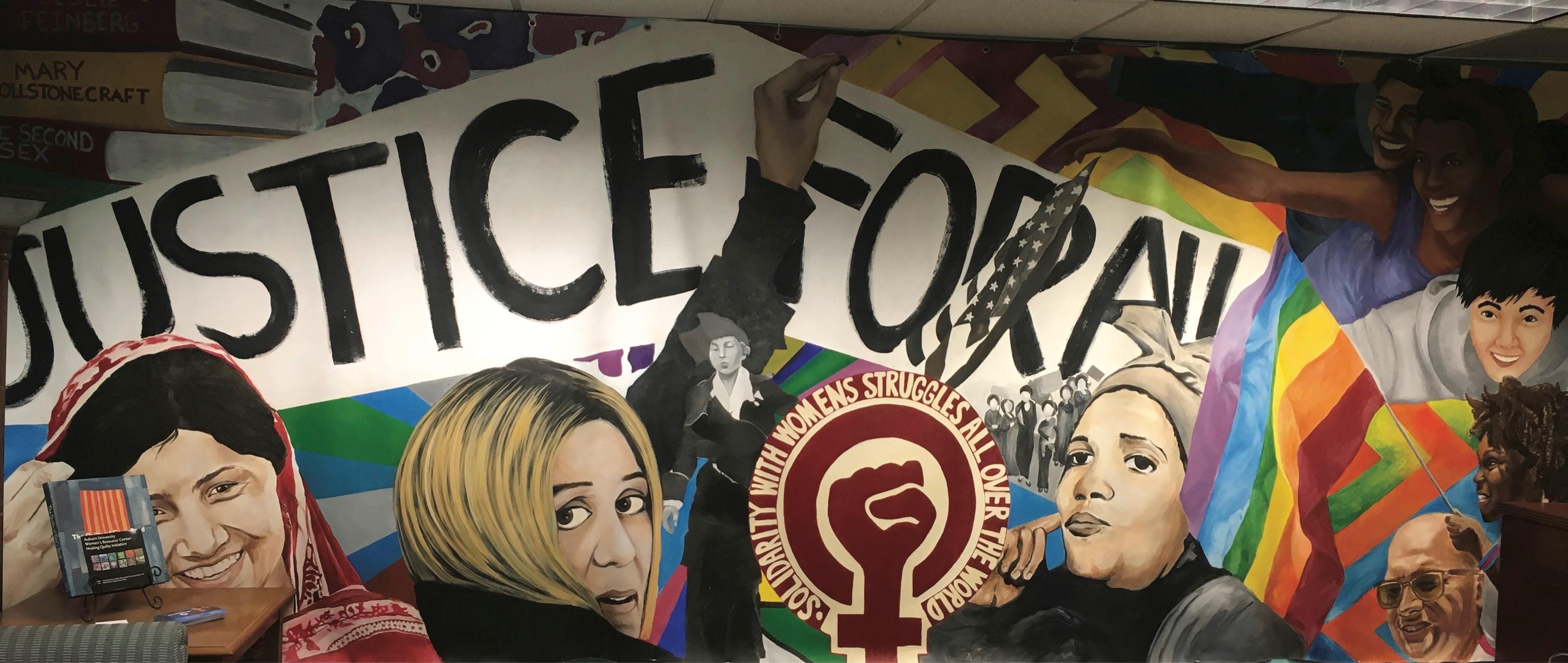 Mural in Women's & Gender Studies office