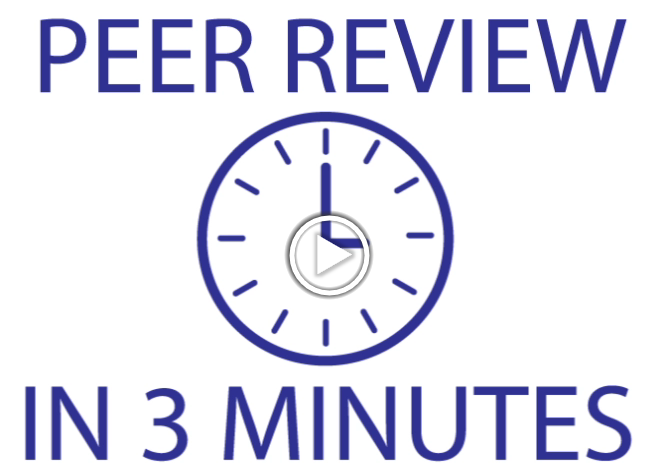 Peer Review in 3 minutes