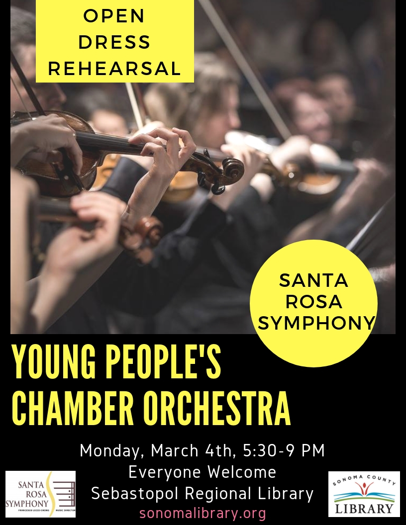 Santa Rosa Symphony: Young People's Chamber Orchestra - Open Dress Rehearsal