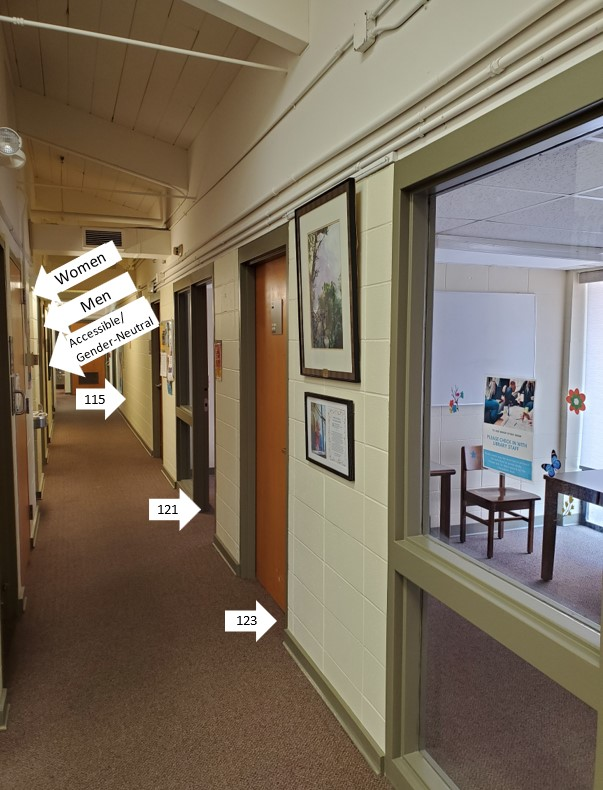 location of study rooms