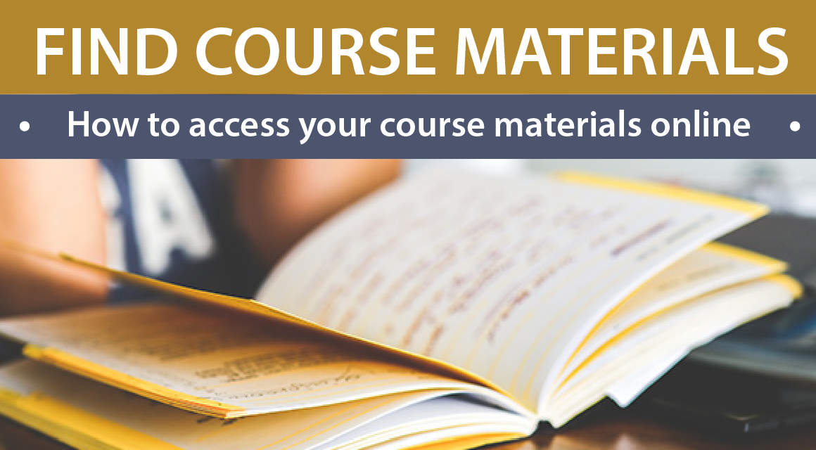 How to Access Your Course Materials Online