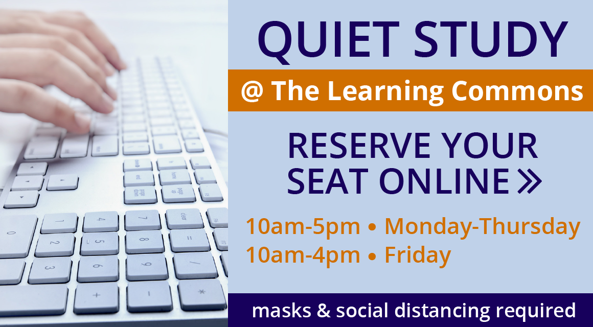 Quiet Study at the Learning Commons: Reserve Your Seat Online