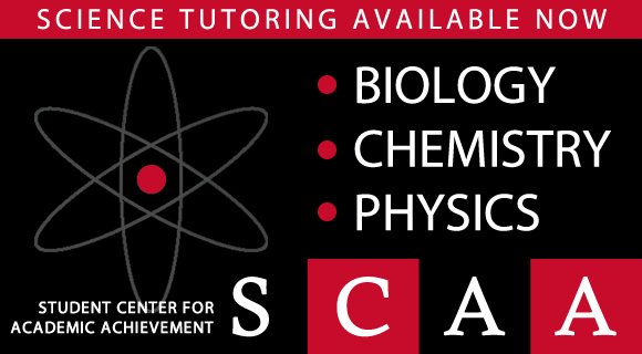 Science Tutoring Available Now at SCAA - Biology, Physics, Chemistry
