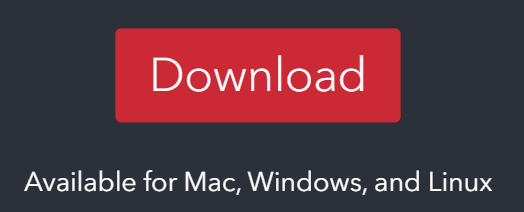 Screenshot of the red download button found at Zotero.org